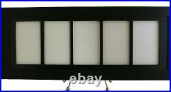 Framed Display for (5) PSA Graded Vertical Cards (All New-black design)