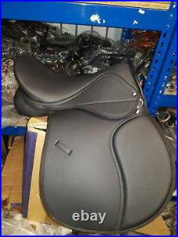 General Purpose Synthetic Horse Saddle, Black Colour All Size