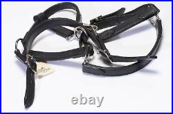 HERMES Paris Black Leather Horse Halter