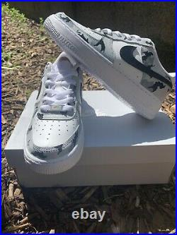 Hand Painted Nike Air Force 1. Custom Design. Unique. Limited Edition. All Sizes