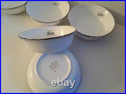 Lenox Pearl Platinum 5 All Purpose Cerial Bowls New