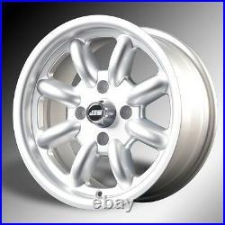 MGB Sebring Minilight Design 15x8 Silver all over Alloy Wheels x 4 (NEW)