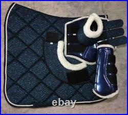 Matchy Set Horse Saddle pad, Tendon Boot and OverReach Bell Boots