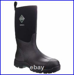 Muck Boots Unisex Derwent II Black All Purpose Short Waterproof Wellington Boots