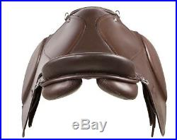 NEW ALL PURPOSE BROWN LEATHER ENGLISH HORSE SADDLE BRIDLE TACK SET 16 18 in