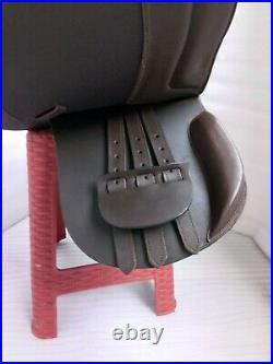 NEW English saddle brown leather treeless all purpose saddle in all size