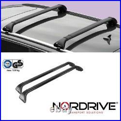 NORDRIVE Design Dachträger Snap Stahl Dach Gepäck Träger für Audi A6 C7 Allroad