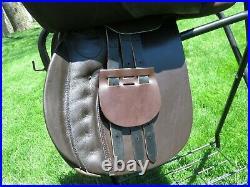 NWT Thorowgood Saxon 18.5 Two-Tone Leather English AP GP SaddleAdjustable Tree