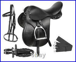 New All Purpose Black English Saddle Start Set Trail Hunter Jump Set 15 16 17 18