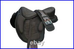 New All Purpose Treeless Horse Saddle Brown color light weight 16+ free Girth