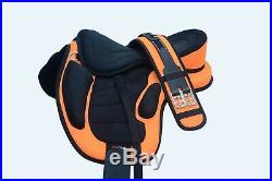 New All Purpose Treeless Horse Saddle in multi colors Size 16+ free Girth