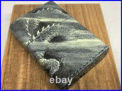 New ZIPPO Limited Edition Leather-Bound DRAGON All-Sides Design Lighter w Box