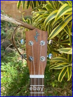 Original Tenor All Solid Acacia Koa Wood Hawaii Made Ukulele Classic Design