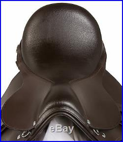 PRO PURPOSE 16 18 in ENGLISH BROWN HUNTER JUMPER LEATHER HORSE SADDLE TACK