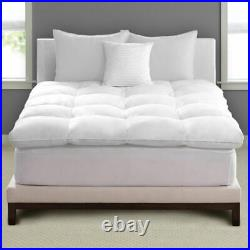 Pacific Coast Luxe Comfort Feather Bed Mattress Top Baffle Box Design ALL SIZES
