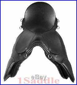 Premium All Purpose Black English Jumping Horse Saddle Tack Set 16