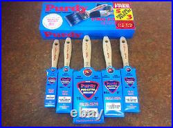 Purdy Pro Extra 5 Piece Synthetic Paint Brush Set 1x1,2x1.5,1x2, 1x3
