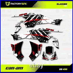 Red Racing Graphics Kit fits Can-Am DS450 All years Slasher design Decal