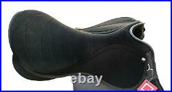 Self Adjusting changeable gullet Synthetic All General Purpose Saddle, Black col