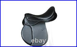 Self Adjusting changeable gullet Synthetic All General Purpose Saddle, black