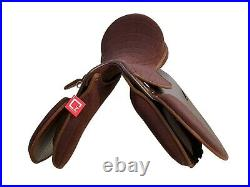 Self Adjusting changeable gullet Synthetic All General Purpose Saddle, brown col