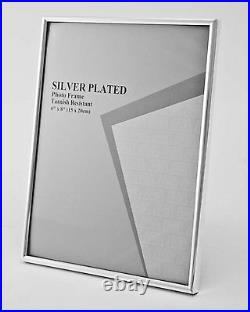 Silver Photo Picture Frame ALL SIZES Shiny Thin Silver Edge Design