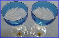 TWO Waterford Crystal Mixology Argon Blue All Purpose Goblets Mint & New in Box