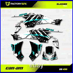 Teal Racing Graphics Kit fits Can-Am DS450 All years Slasher design Decal