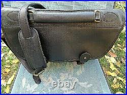 Tusting English leather shoulder bag/briefcase angler pocket case, display case