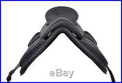 WILDRACE Freemax leather black saddle treeless saddle