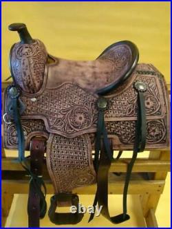Western New Western Leather Saddle Size 14, 15, 16, 17, 18, inch