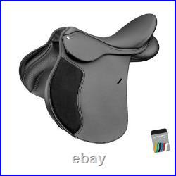 Wintec 250 All Purpose Adjustable GP General Purpose Saddle FLOCK Black/Brown