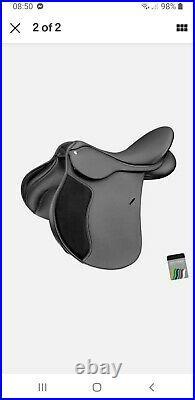 Wintec 250 All Purpose Adjustable GP Saddle FLOCK Black 17 New and new shape
