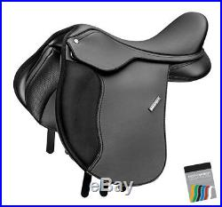 Wintec 500 PONY All Purpose Adjustable General Purpose Saddle FLOCK Black/Brown